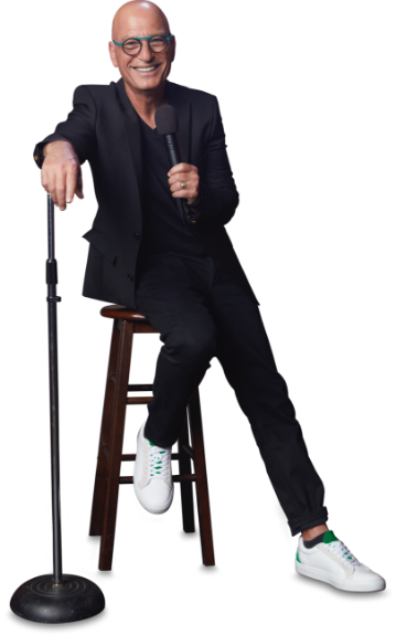 Image of Howie Mandel sitting in a chair